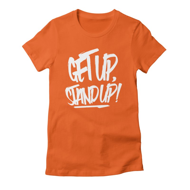 Get Up, Stand Up (Light) Women's Fitted T-Shirt by Rasta University Shop
