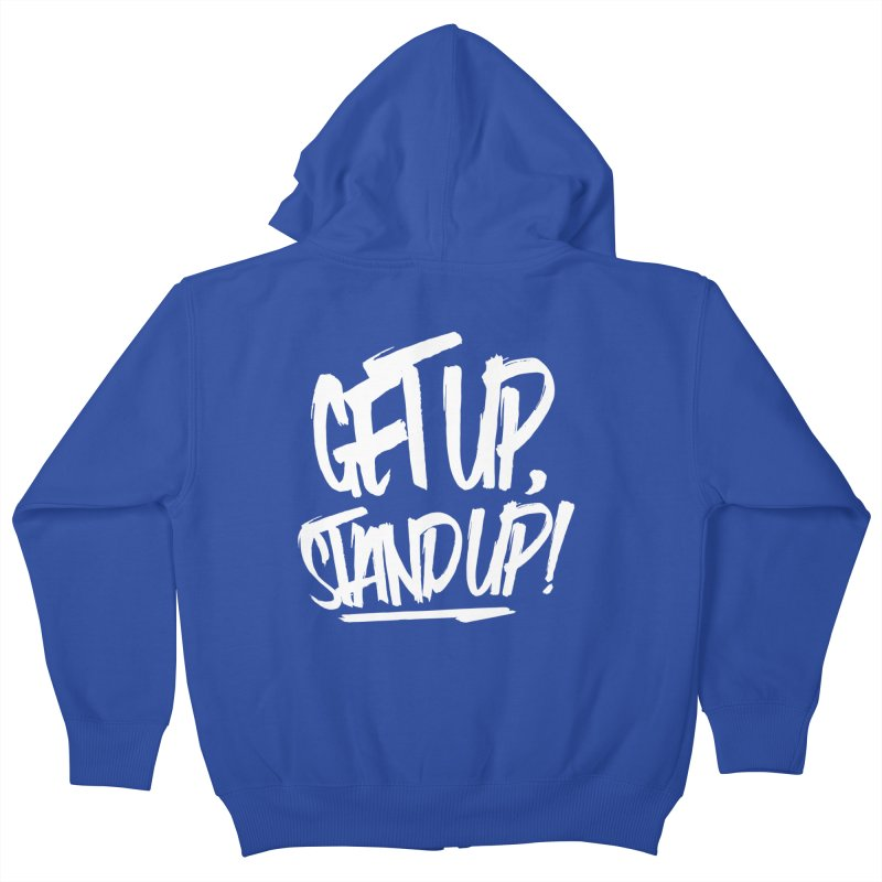 Get Up, Stand Up (Light) Kids Zip-Up Hoody by Rasta University Shop