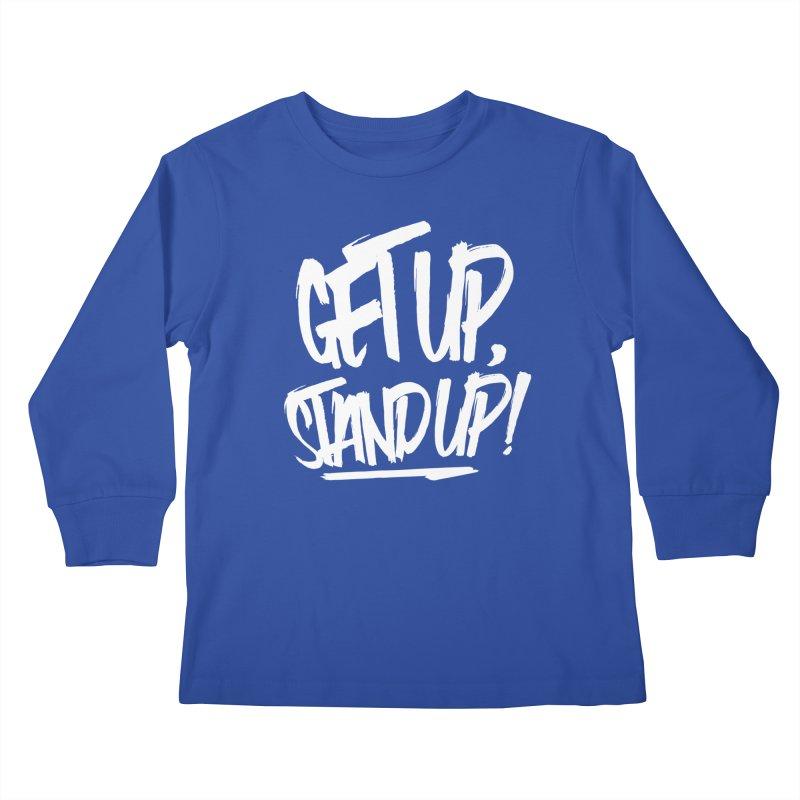 Get Up, Stand Up (Light) Kids Longsleeve T-Shirt by Rasta University Shop