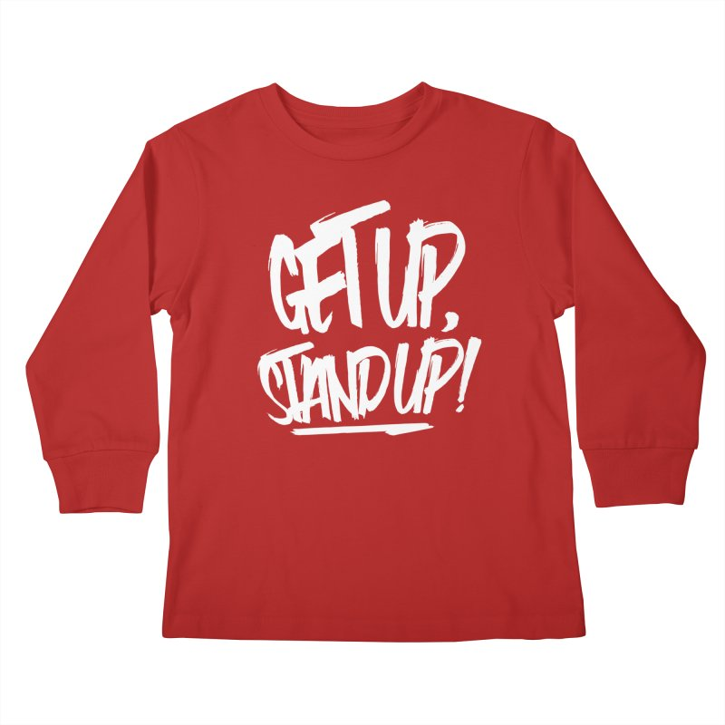 Get Up, Stand Up (Light) Kids Longsleeve T-Shirt by Rasta University Shop