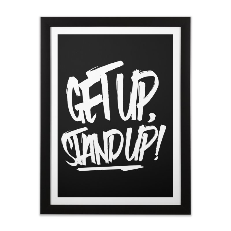 Get Up, Stand Up (Light) Home Framed Fine Art Print by Rasta University Shop