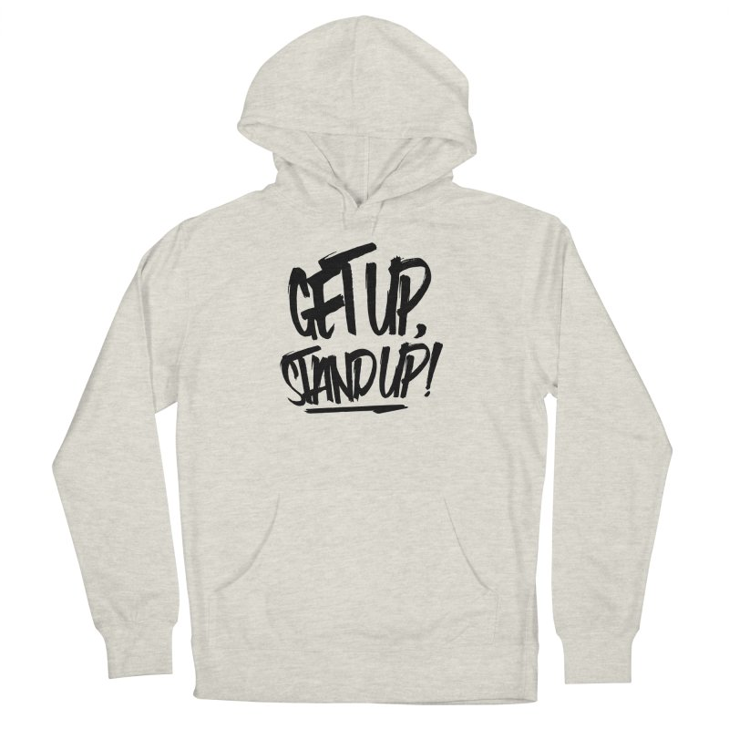Get Up, Stand Up (Dark) Women's French Terry Pullover Hoody by Rasta University Shop