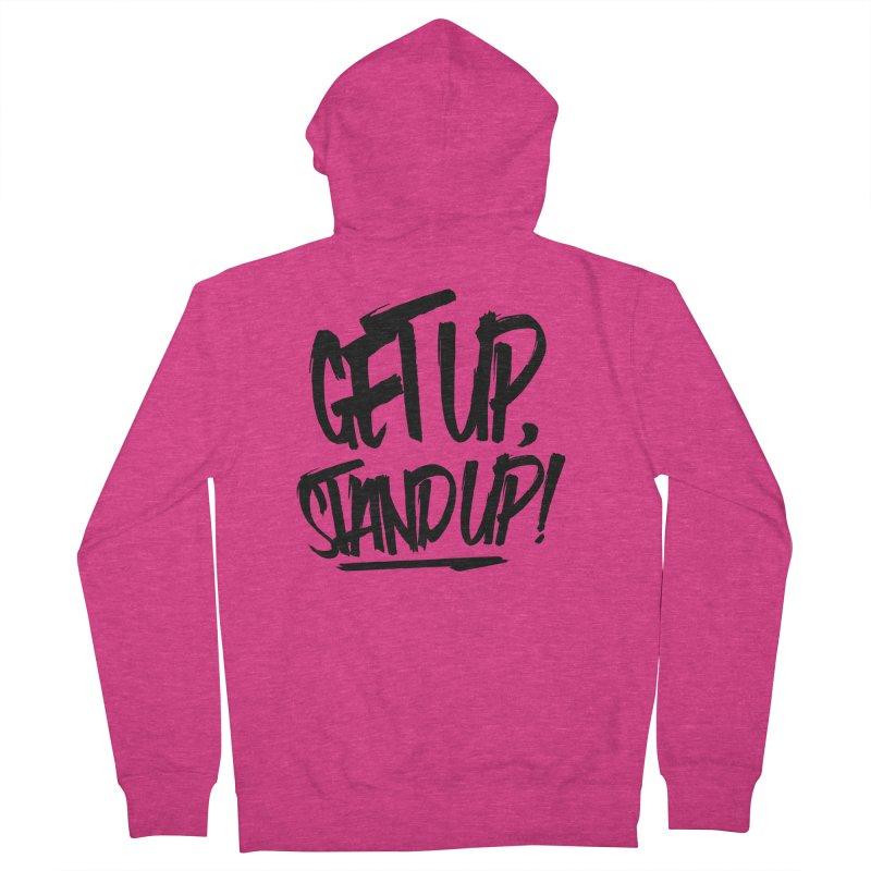 Get Up, Stand Up (Dark) Women's Zip-Up Hoody by Rasta University Shop