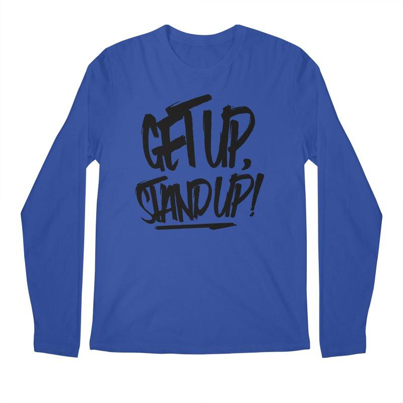 Get Up, Stand Up (Dark) Men's Longsleeve T-Shirt by Rasta University Shop
