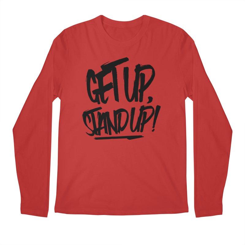 Get Up, Stand Up (Dark) Men's Regular Longsleeve T-Shirt by Rasta University Shop