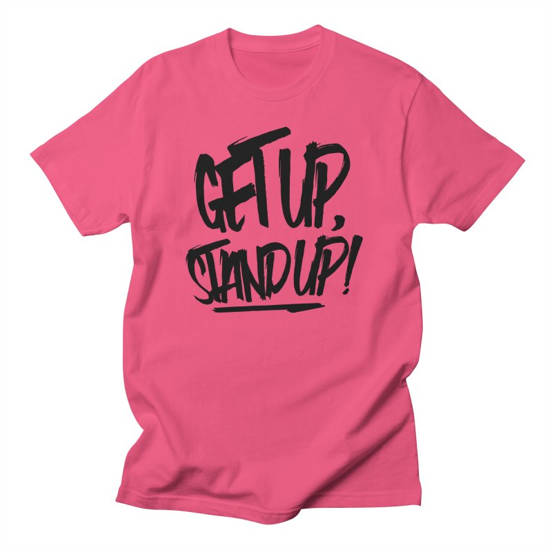 Get Up, Stand Up (Dark) Men's Regular T-Shirt by Rasta University Shop