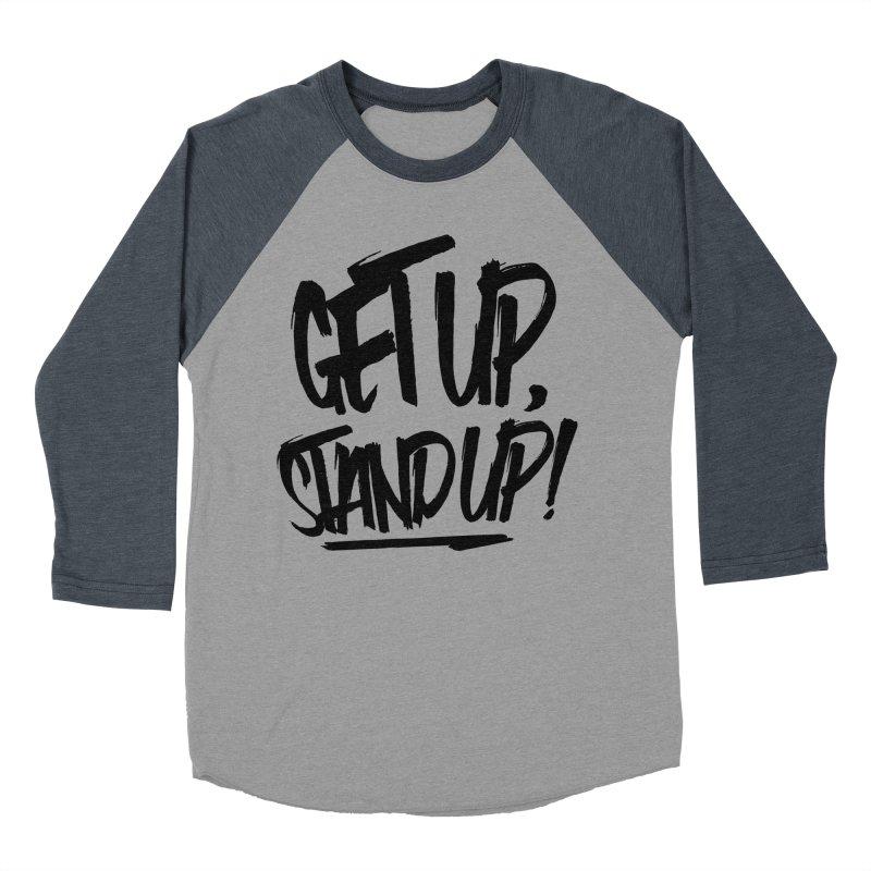 Get Up, Stand Up (Dark) Women's Baseball Triblend T-Shirt by Rasta University Shop