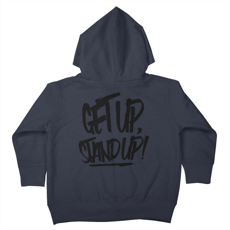 Get Up, Stand Up (Dark) Kids Toddler Zip-Up Hoody by Rasta University Shop