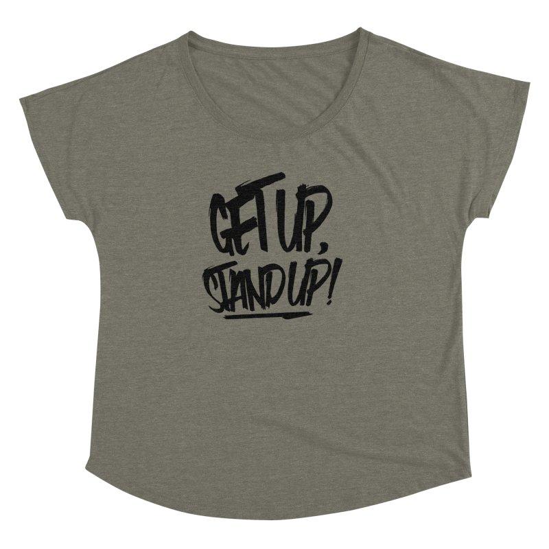 Get Up, Stand Up (Dark) Women's Dolman by Rasta University Shop