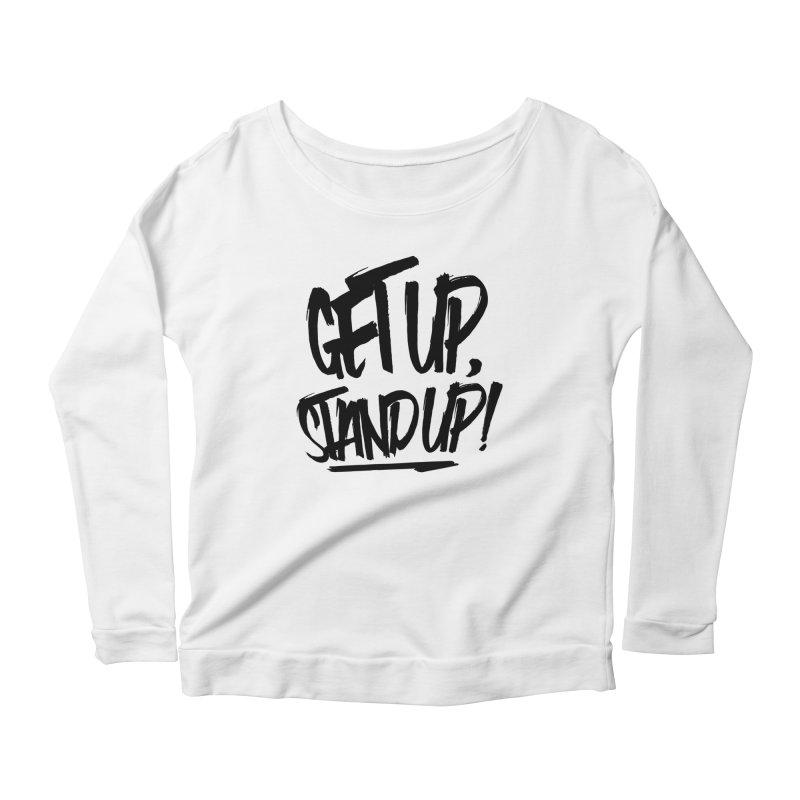 Get Up, Stand Up (Dark) Women's Longsleeve Scoopneck  by Rasta University Shop
