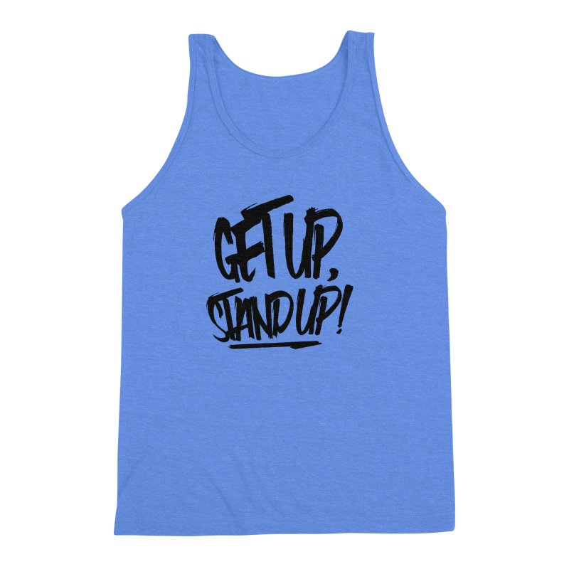 Get Up, Stand Up (Dark) Men's Triblend Tank by Rasta University Shop