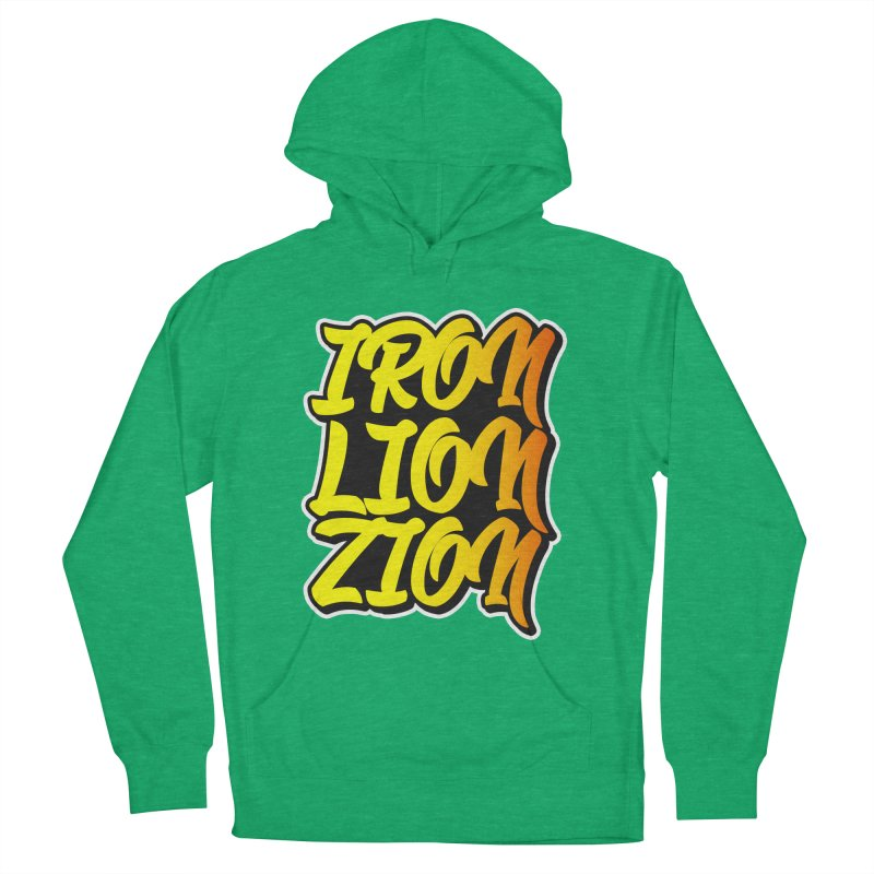 Iron Lion Zion Men's French Terry Pullover Hoody by Rasta University Shop
