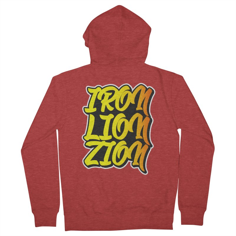 Iron Lion Zion Men's French Terry Zip-Up Hoody by Rasta University Shop