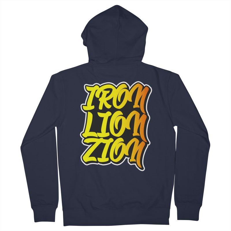 Iron Lion Zion Men's Zip-Up Hoody by Rasta University Shop