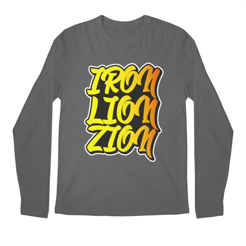 Iron Lion Zion Men's Regular Longsleeve T-Shirt by Rasta University Shop
