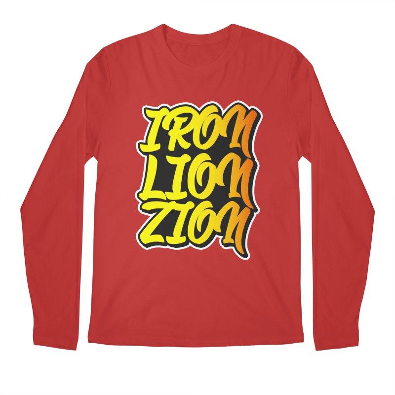 Iron Lion Zion Men's Regular Longsleeve T-Shirt by Rasta University Shop