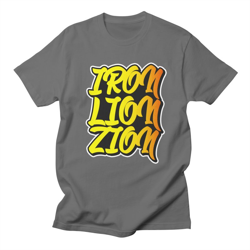 Iron Lion Zion Men's T-Shirt by Rasta University Shop