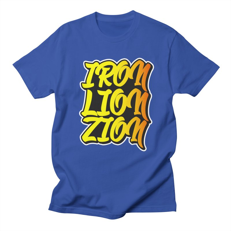 Iron Lion Zion Men's T-shirt by Rasta University Shop