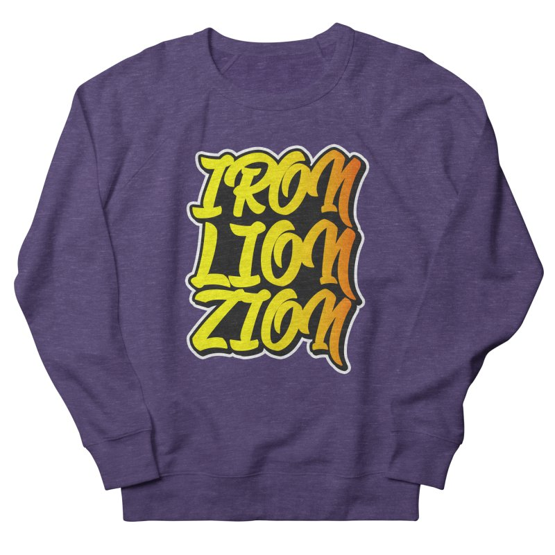 Iron Lion Zion Women's French Terry Sweatshirt by Rasta University Shop