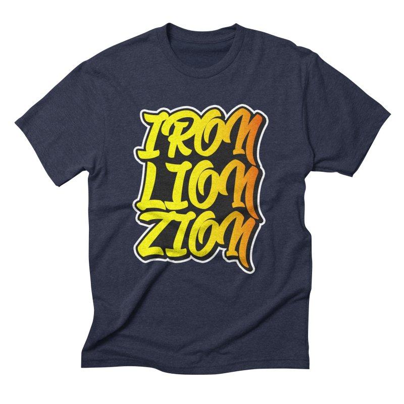 Iron Lion Zion Men's Triblend T-shirt by Rasta University Shop