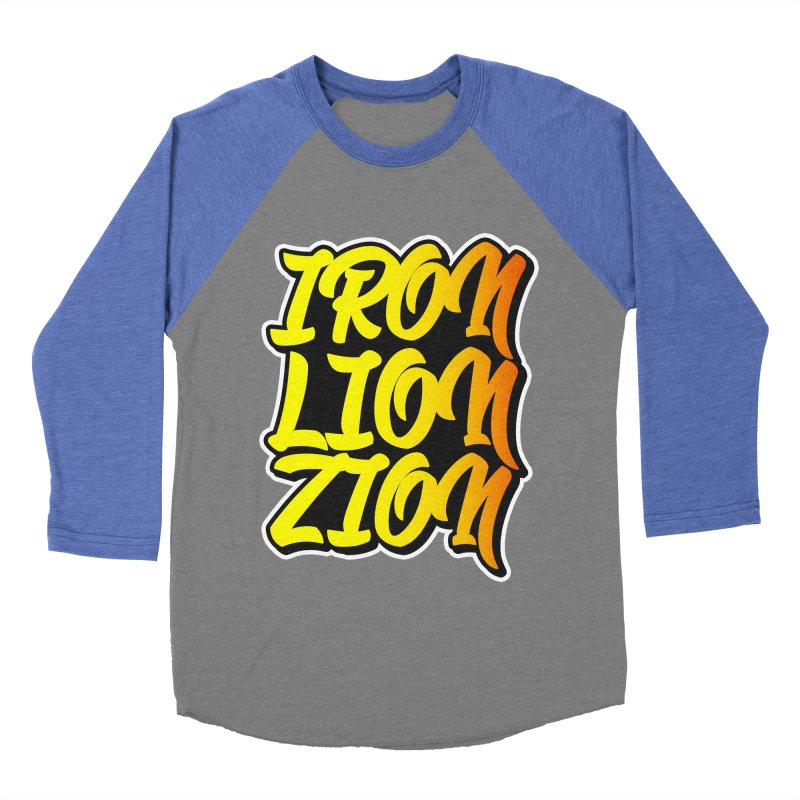 Iron Lion Zion Women's Baseball Triblend Longsleeve T-Shirt by Rasta University Shop