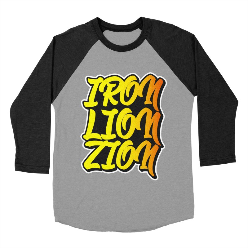 Iron Lion Zion Women's Baseball Triblend T-Shirt by Rasta University Shop