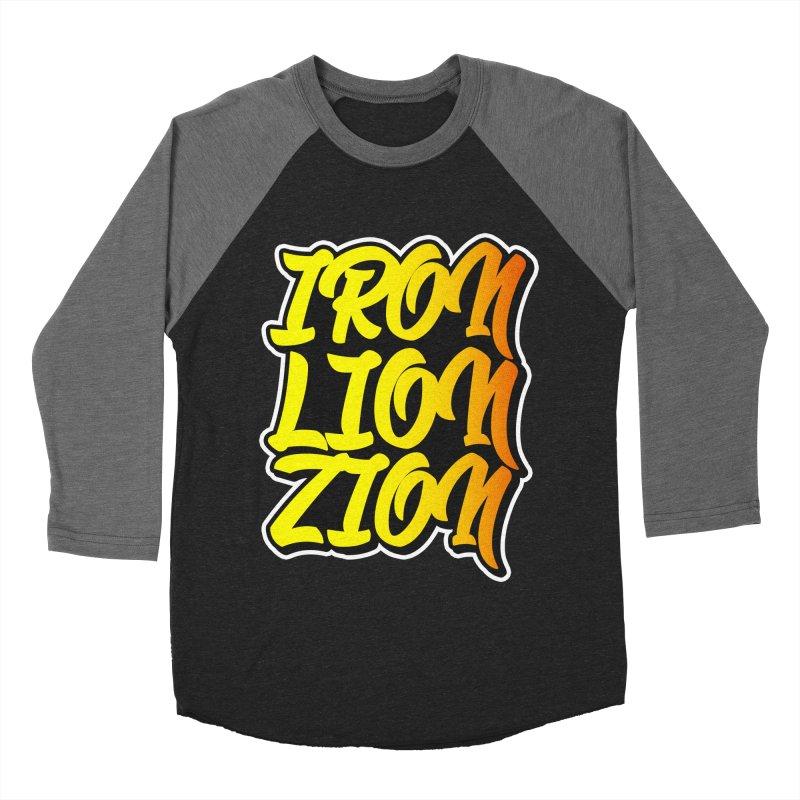 Iron Lion Zion Men's Baseball Triblend T-Shirt by Rasta University Shop