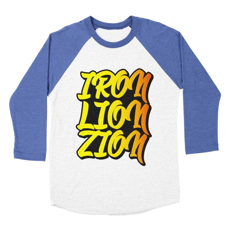 Iron Lion Zion Men's Baseball Triblend Longsleeve T-Shirt by Rasta University Shop