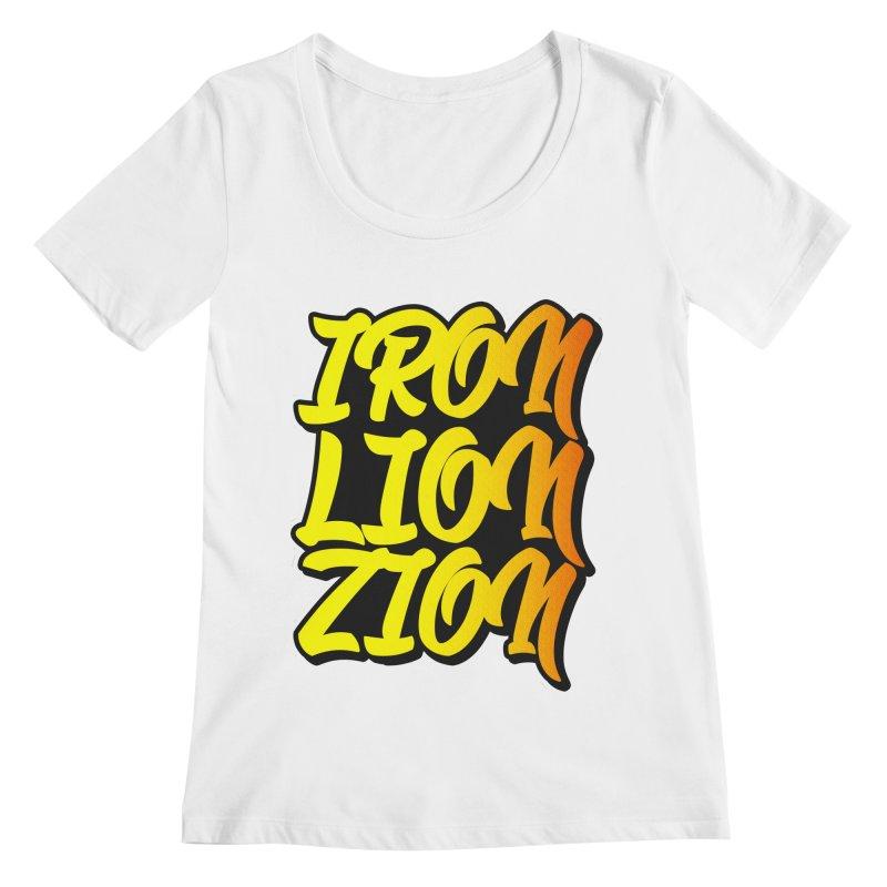 Iron Lion Zion Women's Regular Scoop Neck by Rasta University Shop