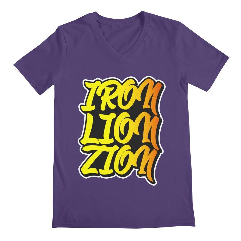 Iron Lion Zion Men's V-Neck by Rasta University Shop