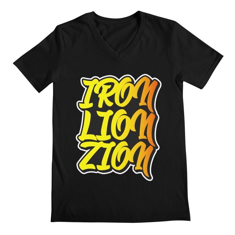 Iron Lion Zion Men's Regular V-Neck by Rasta University Shop