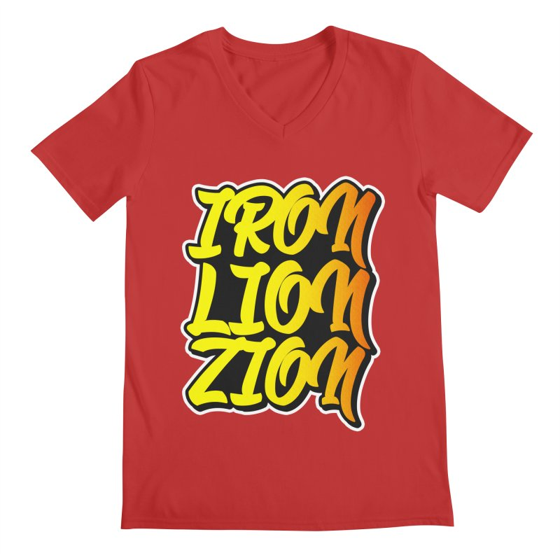 Iron Lion Zion Men's Regular V-Neck by Rasta University Shop