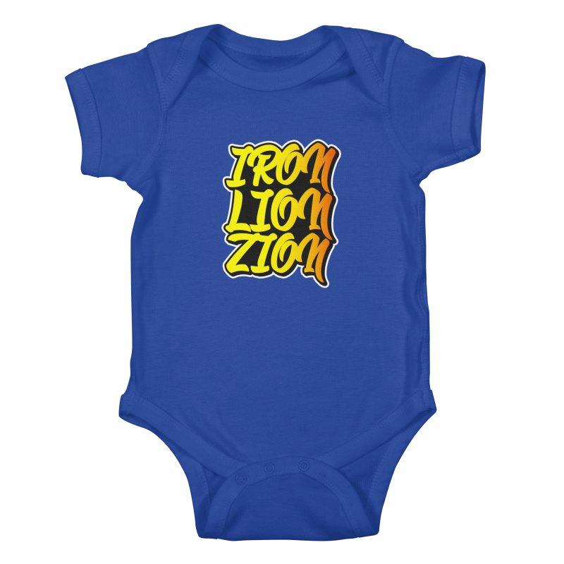 Iron Lion Zion Kids Baby Bodysuit by Rasta University Shop