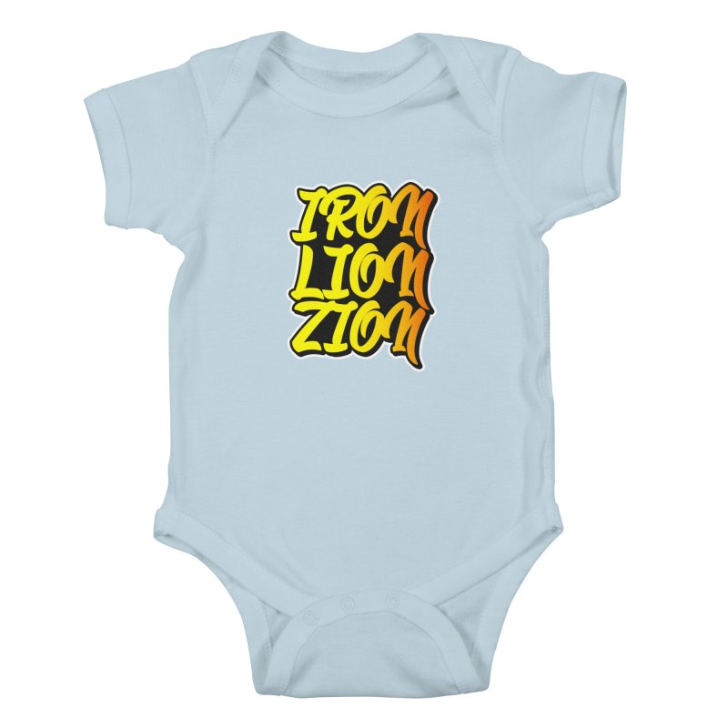 Iron Lion Zion Kids Baby Bodysuit by Rasta University Shop