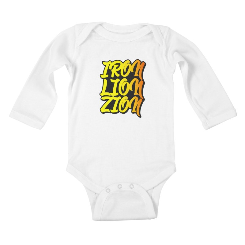 Iron Lion Zion Kids Baby Longsleeve Bodysuit by Rasta University Shop