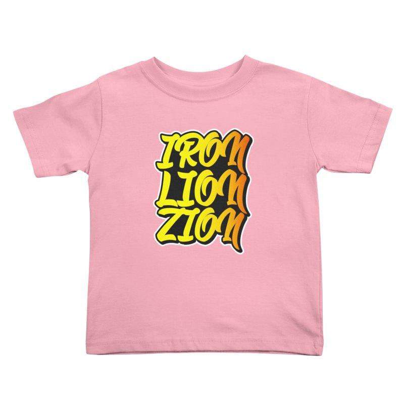 Iron Lion Zion Kids Toddler T-Shirt by Rasta University Shop