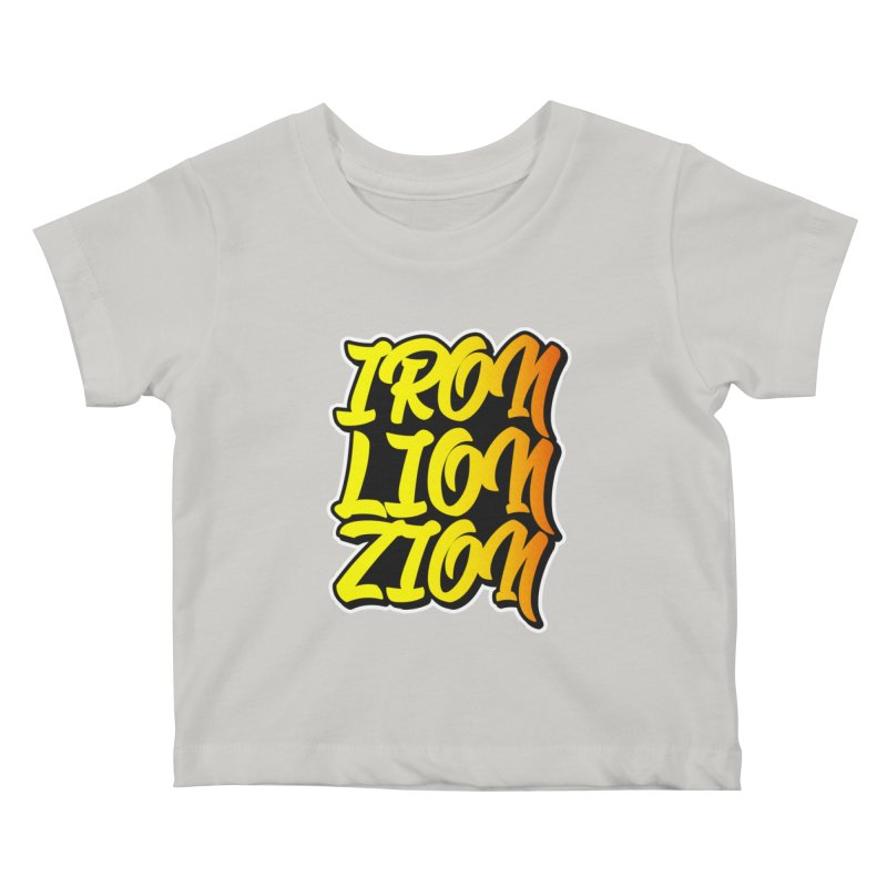 Iron Lion Zion Kids Baby T-Shirt by Rasta University Shop