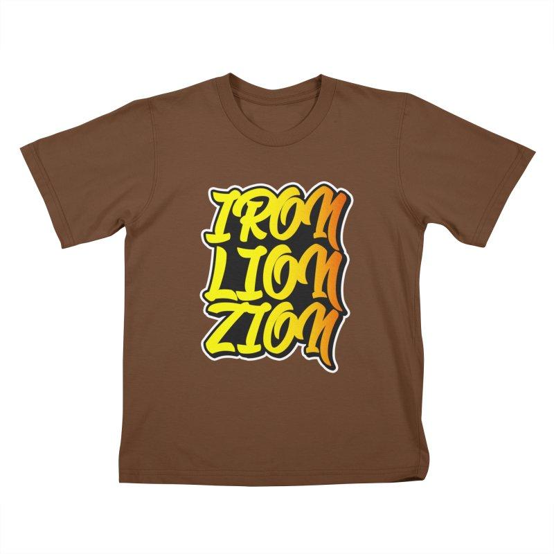 Iron Lion Zion Kids T-Shirt by Rasta University Shop