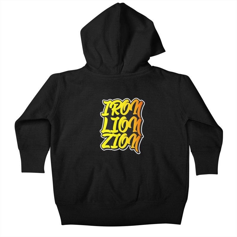 Iron Lion Zion Kids Baby Zip-Up Hoody by Rasta University Shop