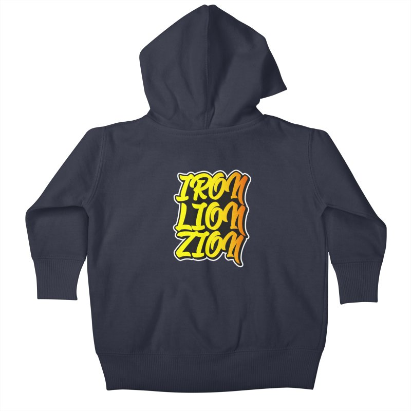 Iron Lion Zion Kids Baby Zip-Up Hoody by Rasta University Shop
