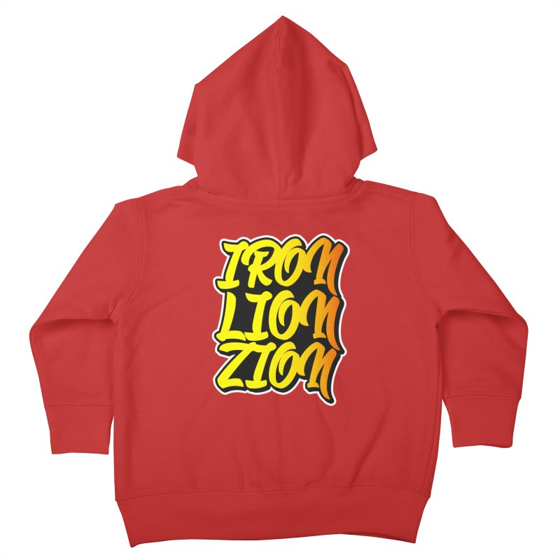Iron Lion Zion Kids Toddler Zip-Up Hoody by Rasta University Shop