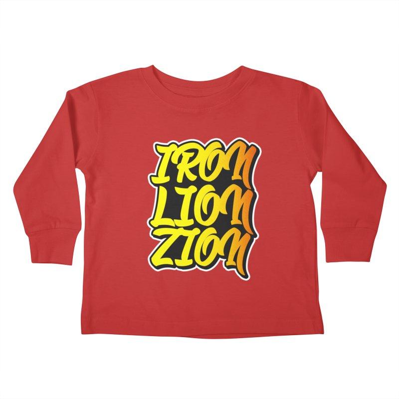 Iron Lion Zion Kids Toddler Longsleeve T-Shirt by Rasta University Shop