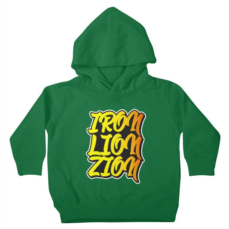Iron Lion Zion Kids Toddler Pullover Hoody by Rasta University Shop