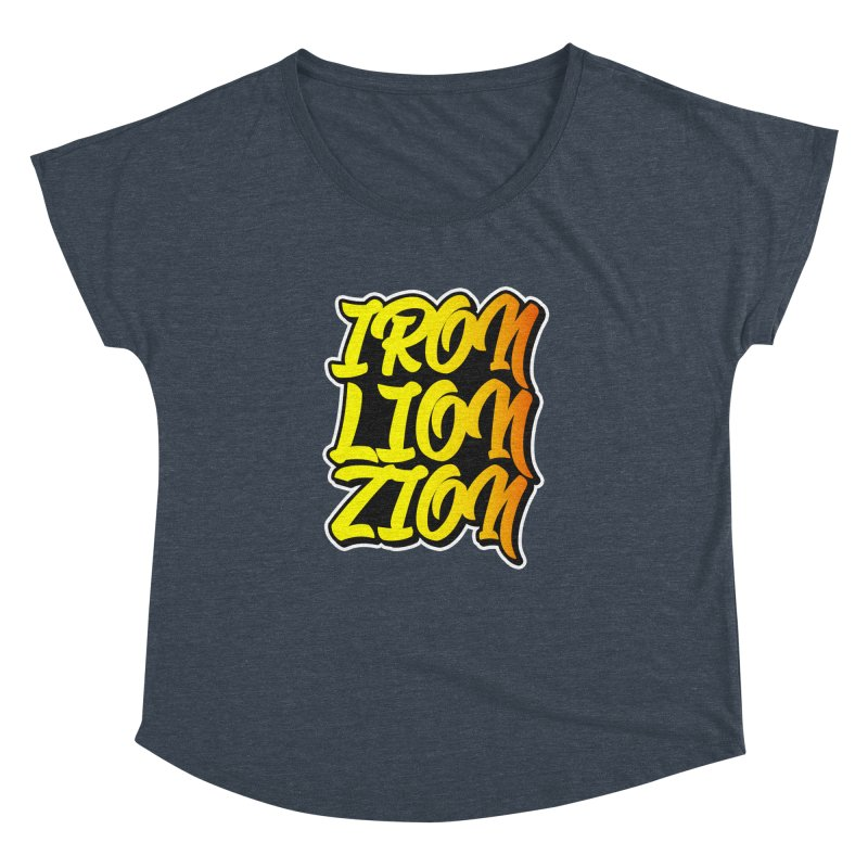 Iron Lion Zion Women's Dolman Scoop Neck by Rasta University Shop