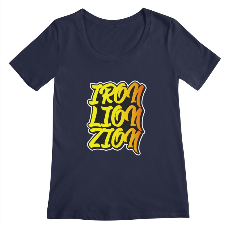 Iron Lion Zion Women's Regular Scoop Neck by Rasta University Shop