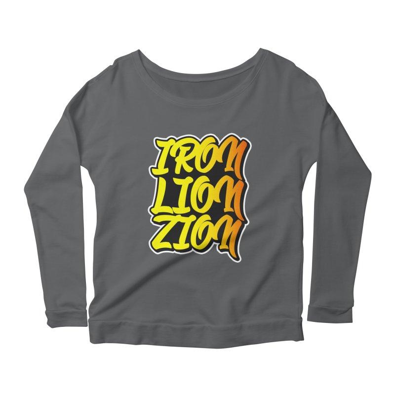 Iron Lion Zion Women's Longsleeve Scoopneck  by Rasta University Shop