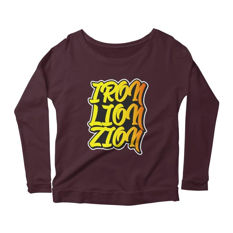 Iron Lion Zion Women's Scoop Neck Longsleeve T-Shirt by Rasta University Shop