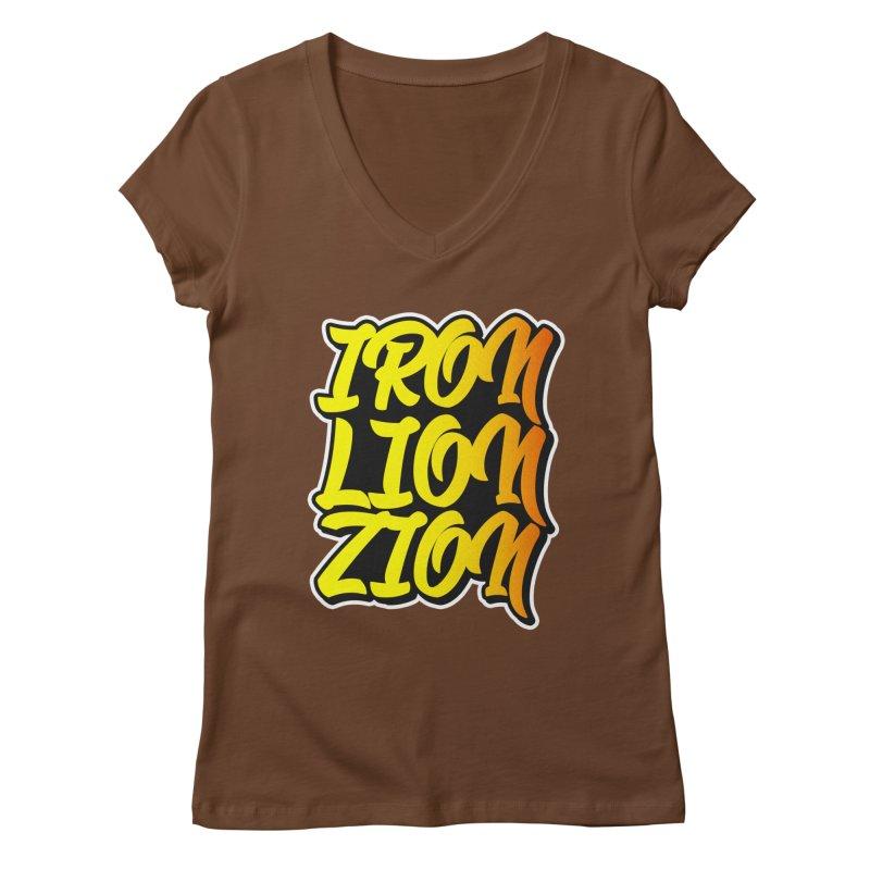 Iron Lion Zion Women's V-Neck by Rasta University Shop