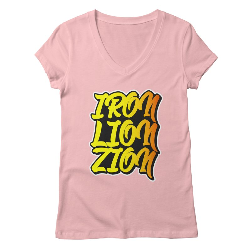 Iron Lion Zion Women's V-Neck by Rasta University Shop