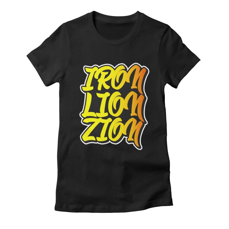 Iron Lion Zion Women's Fitted T-Shirt by Rasta University Shop